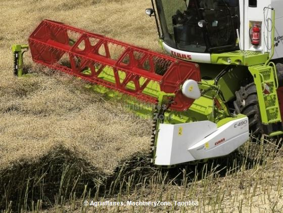 Header Extension for Rape Seed Harvesting